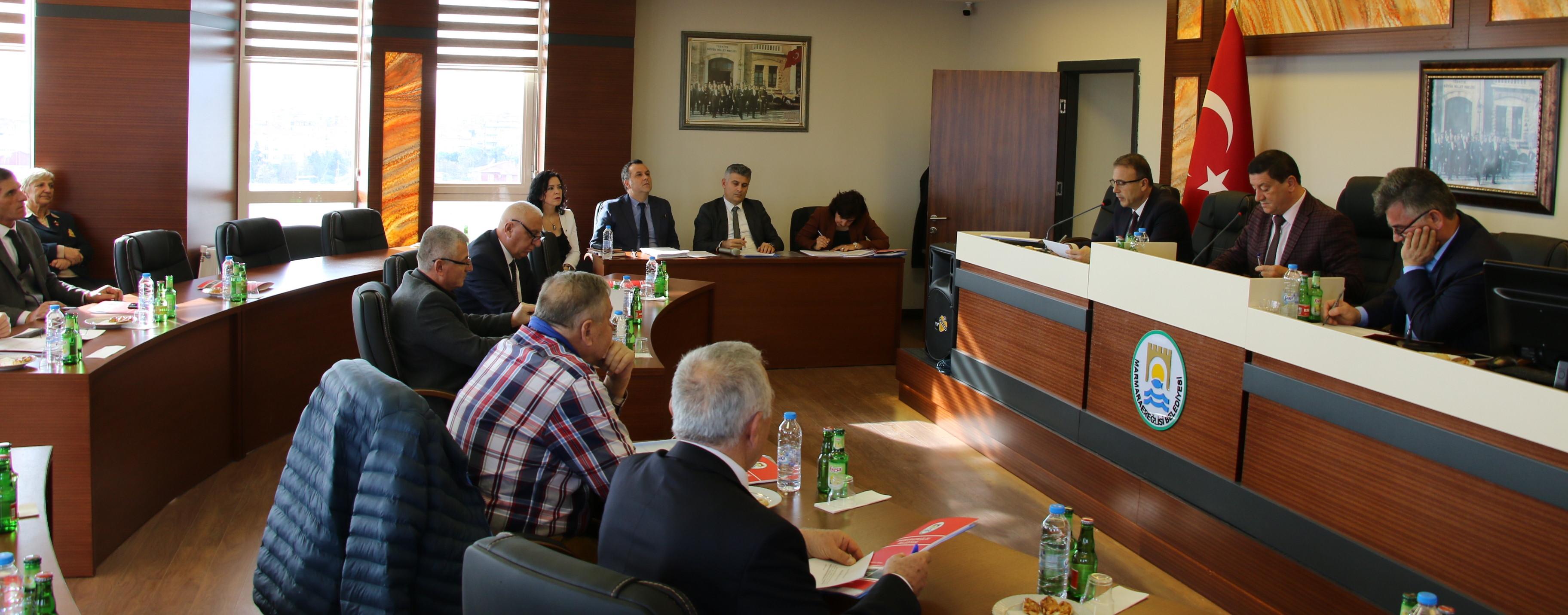 Marmaarereğlsii Belediyesi Aralık ayı meclis toplantısı yapıldı