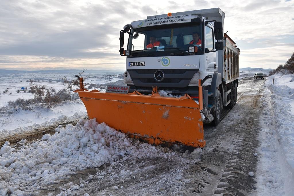 Büyükşehir Belediyesi Kar Yağışına Karşı Teyakkuzda