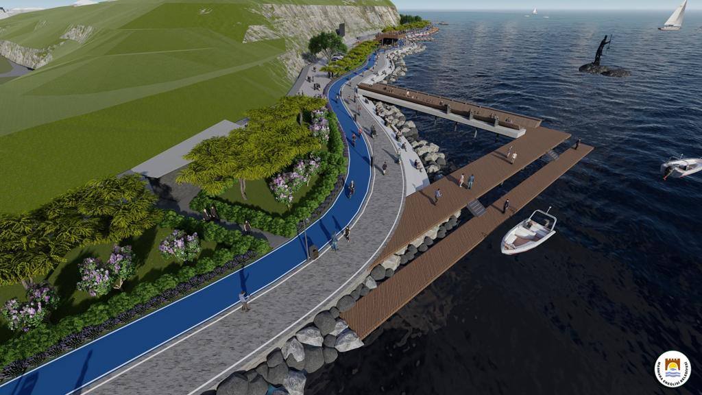 Marmaraereğlisi Belediyesi Arka Deniz Kıyı Düzenleme Projesini Halka Sundu