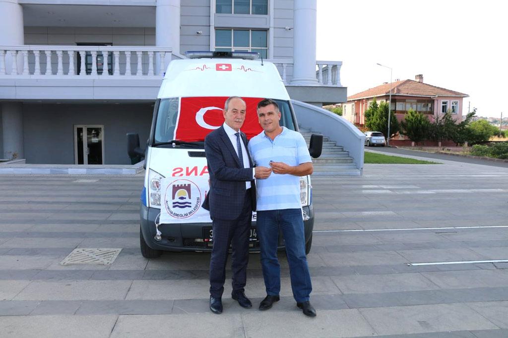 Marmaraereğlisi Belediyesi Araç Filosuna Bir Yenisini Daha Ekledi