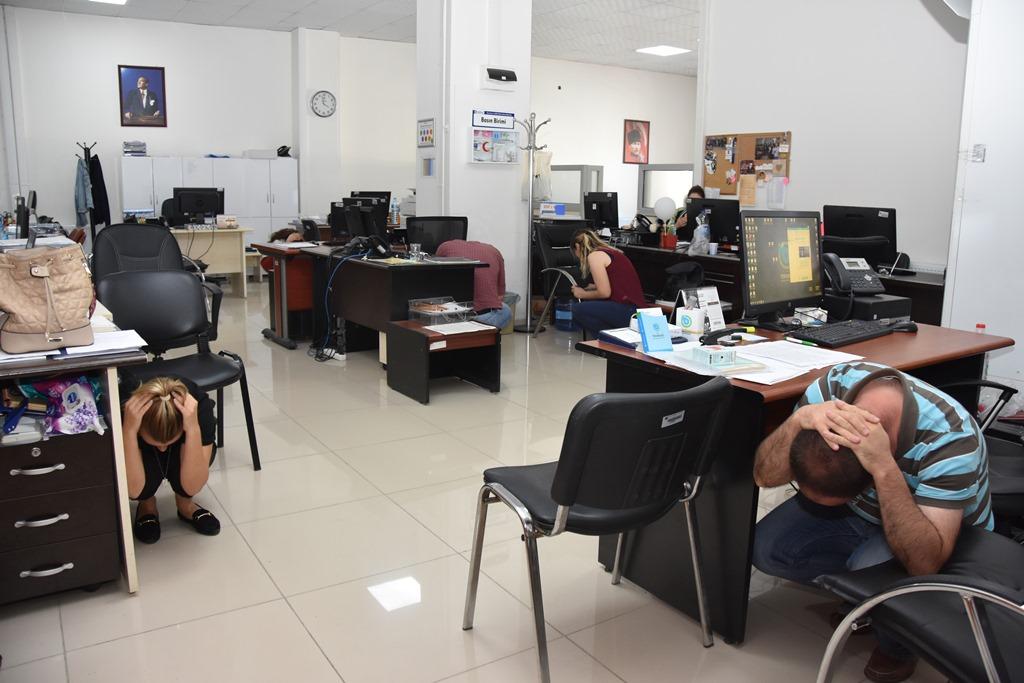 Tekirdağ Büyükşehir Belediyesi'nde Acil Durum Tatbikatı başarıyla gerçekleştirildi.