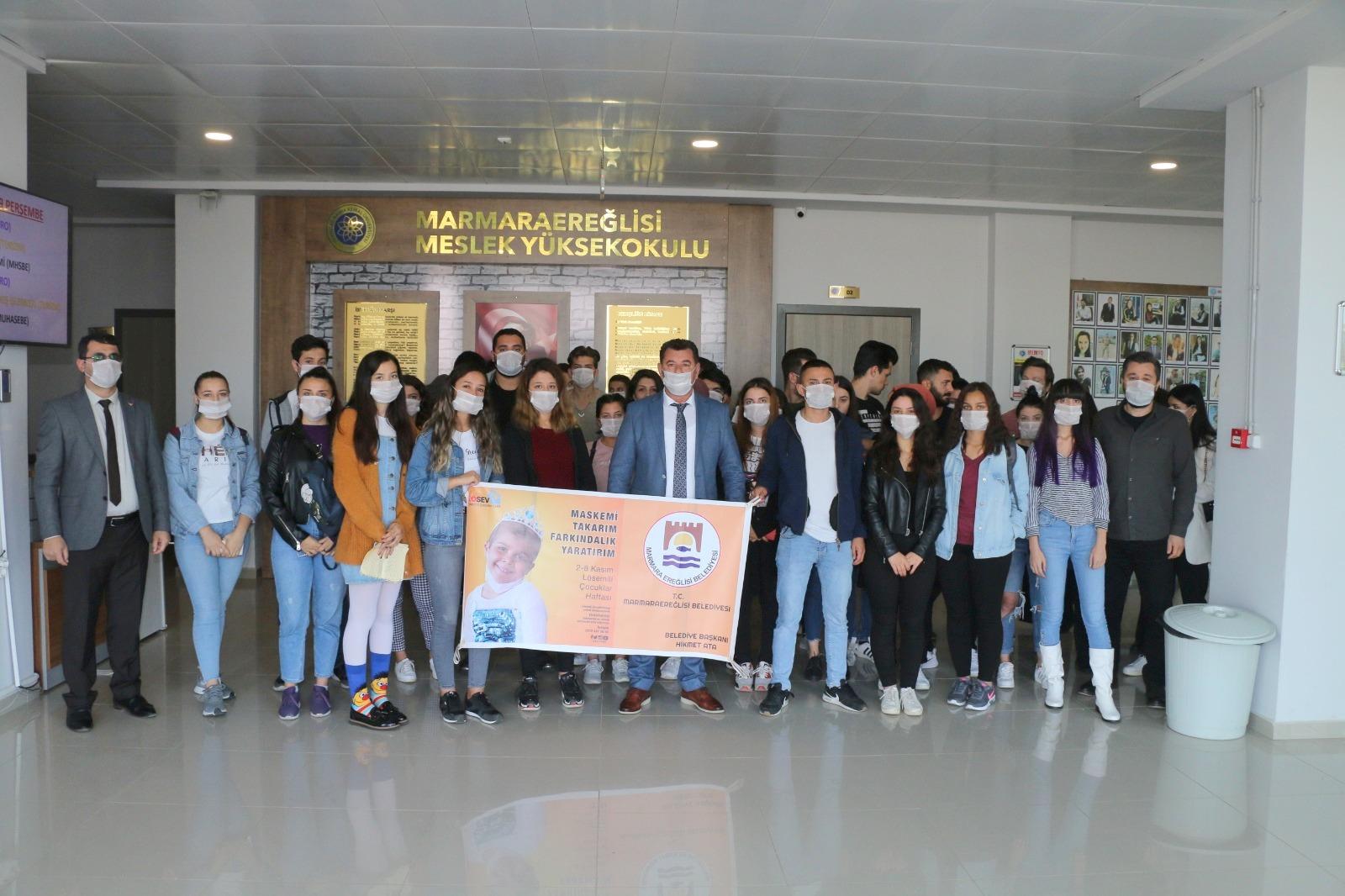 Marmaraereğlisi Belediyesi'nden Lösemi ile ilgili anlamlı etkinlik