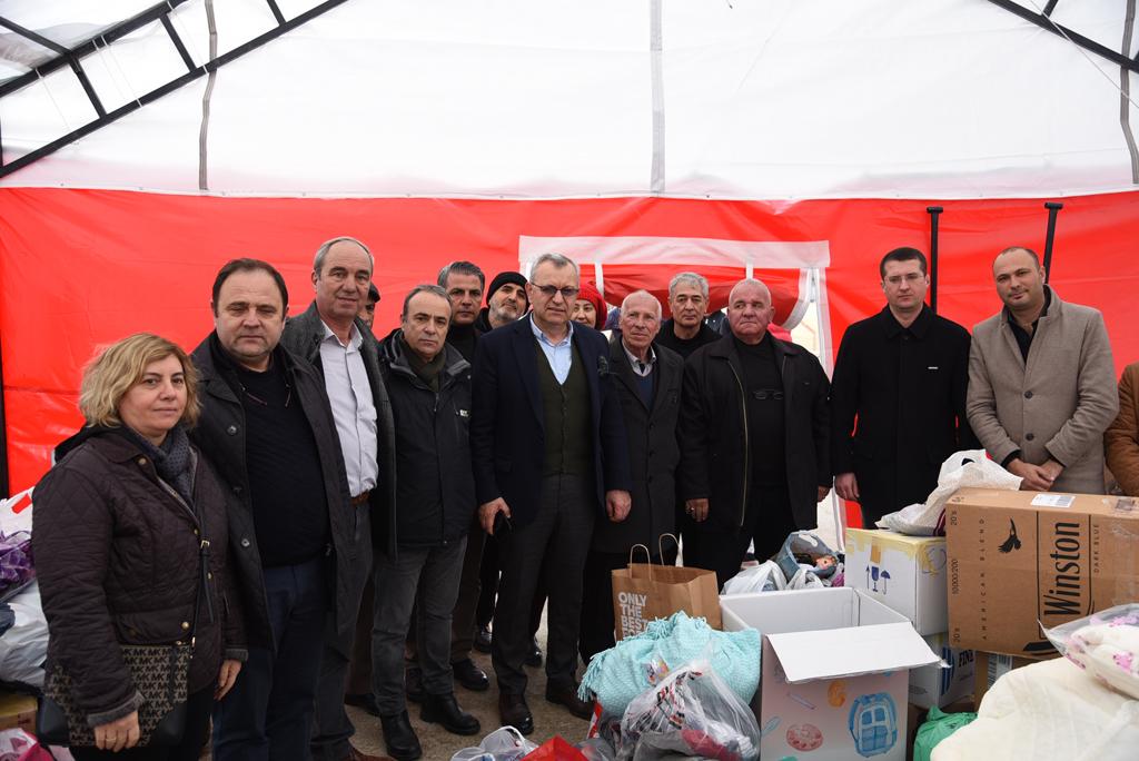 Keşan halkı Elazığ'a destek için tek yürek oldu