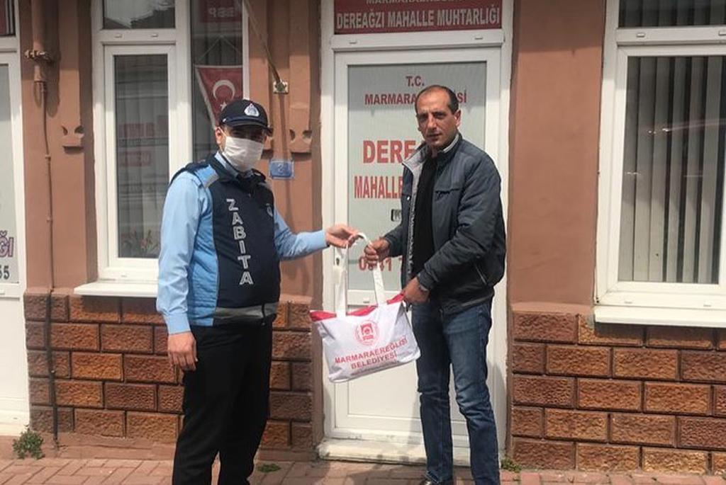 Marmaraereğlisi Belediyesi Bünyesinde Üretilen Maskeler Dağıtılıyor