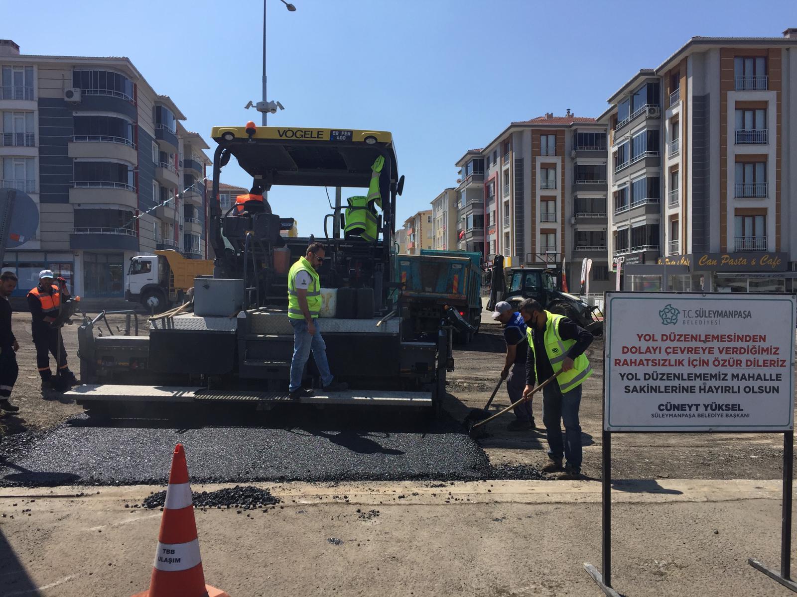 Süleymanpaşa Belediyesi asfalt sezonunu hızlı açtı