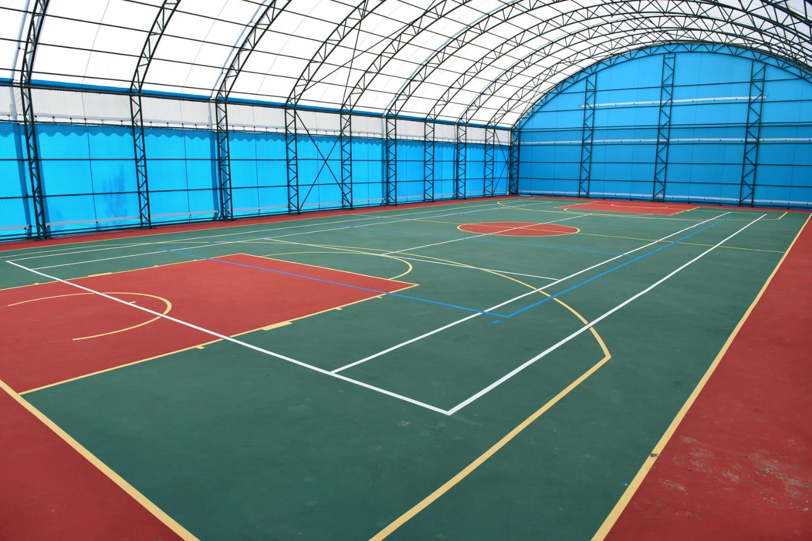 100. Yıl Gençlik Merkezi spor tesisleri baştan sona yenilendi