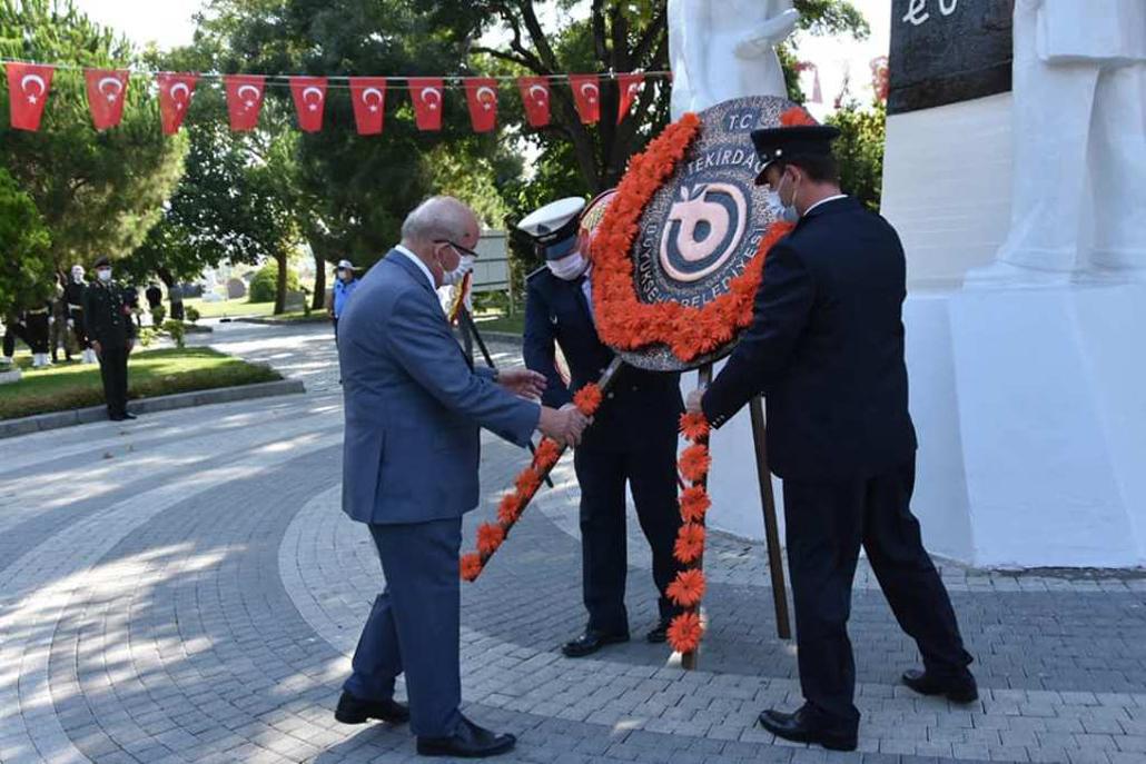 Gazi Mustafa Kemal Atatürk'ün Tekirdağ'a Gelişi ve Türk Alfabesinin Tekirdağ'da Uygulanışının Yıl Dönümü Düzenlenen Törenle Anıldı