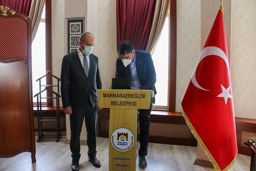 BAKAN KURUM'DAN MARMARAEREĞLİSİ'NE ZİYARET