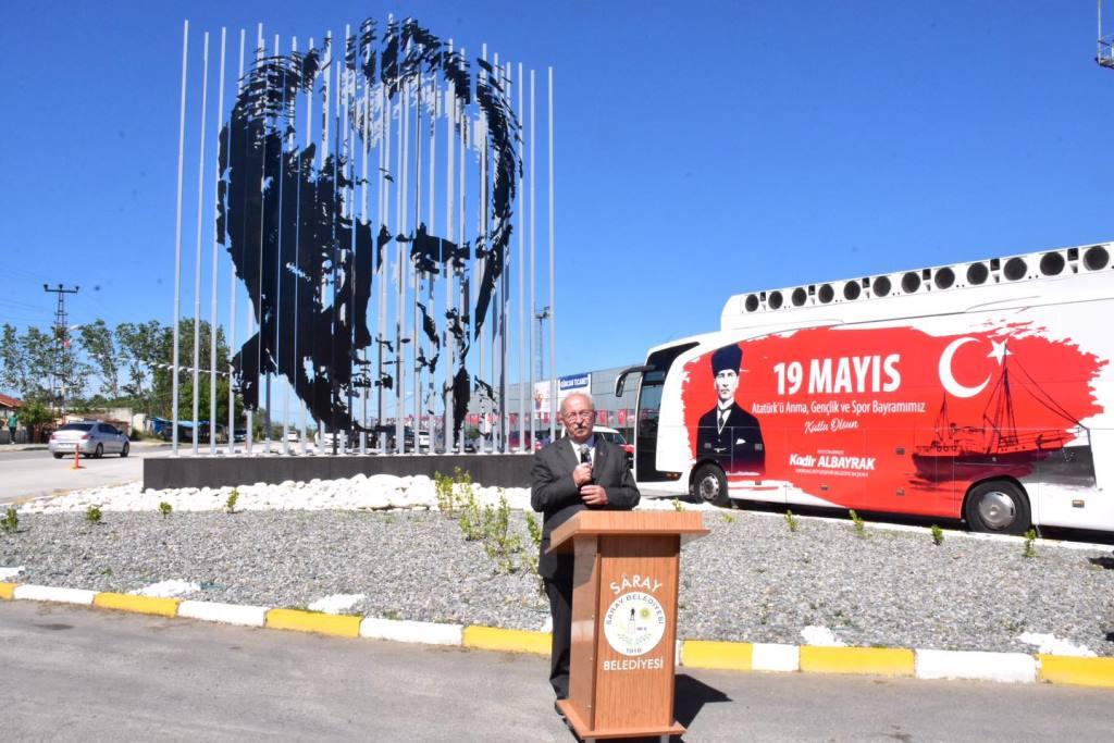 Saray'da Atatürk Silüeti Açılışı Gerçekleşti