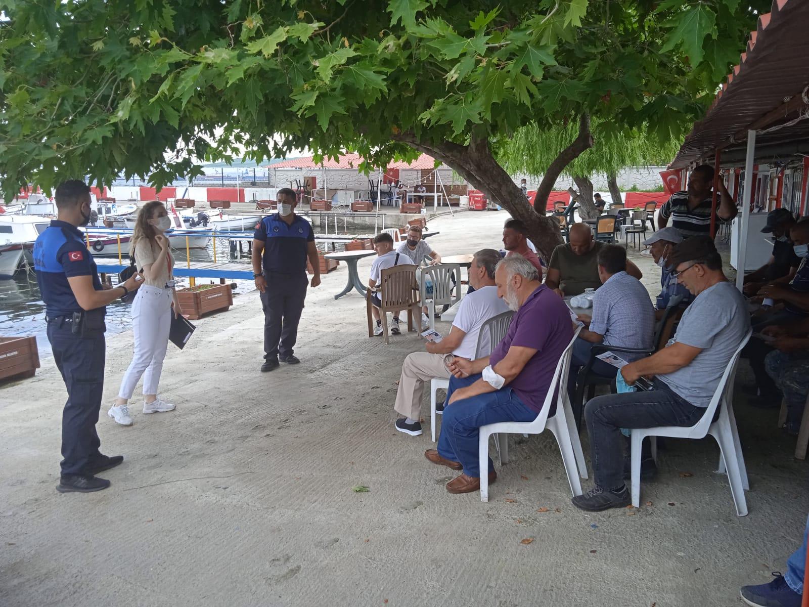 Süleymanpaşa Belediyesi ekipleri balıkçılarla bir araya geldi